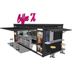 Contentores móveis prefabricadas modulares modificado House Coffee Bar do Hysun