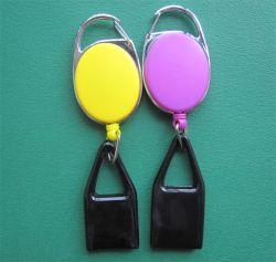 더 가벼운 가죽끈을%s 가진 철회 가능한 Zip 기장 권선 ID 카드 기장 홀더