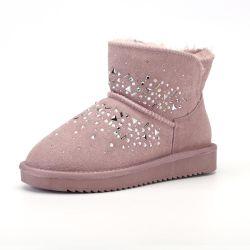 Mayorista de OEM de cuero resistente al agua de invierno botas de invierno para las señoras del gusano de la moda y cómodos zapatos de mujer