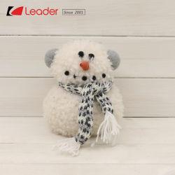 Jouets de Noël nordique Edge Sitter Bonhomme de neige en peluche à coudre à la main avec des poupées en tissu écharpe tricotés, tissu suédois pour la maison d'Artisanat de décoration et de cadeau de vacances