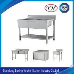 Las ventas en caliente de acero inoxidable fregadero de cocina Gabinete para cocina comercial