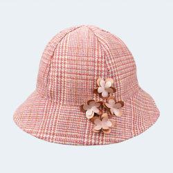 도매 주문 모직 꽃 선발을%s 가진 줄무늬 여자 아기 모자