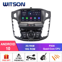 Witson vierling-Core Android 10 GPS van Car DVD voor Ford Focus 2012-2014 bouwen-in OBD Function