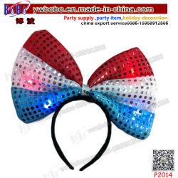 毛の宝石類LEDはつけるフラグの弓ヘッドバンド党Hairband党装飾の新型のクラフト(P2014)を