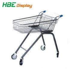 Carrelli di acquisto del carrello della mano del supermercato del metallo spruzzati plastica