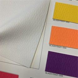 PU em couro sintético tecido/couro artificial exemplar para o assento decorativos de mobiliário