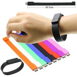 USB Flash Drive USB 2.0 de 4 GB y 8GB 16GB 32 GB 64 GB 128 GB de muñeca de plástico Pulsera de la banda de USB Flash Drive