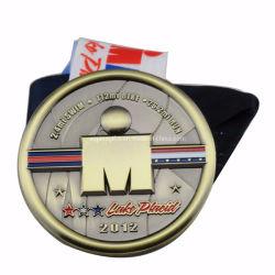 Maratón personalizada Boxeo//// Fútbol Baloncesto Voleibol Deportes medallas medalla de Fundición de aleación de zinc con vaciar el Metal (116)