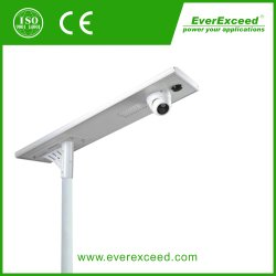 CCTV Cameraが付いているOne Solar LED Lightingの100W Integrated Solar Street Light All