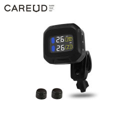 Careud M3の防水オートバイのリアルタイムのタイヤ空気圧の監視システムTPMS無線LCDの表示の内部か外部Th/Wiセンサー