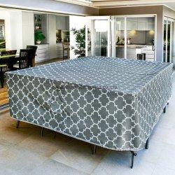 Rectángulo Tapa de la Mesa del Patio de servicio pesado, tapas de mesa rectangular impermeable al aire libre, duradero y resistente a la fachada cubierta de la mesa de comedor al aire libre