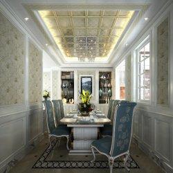 Hoogwaardige plafonds van 319 mm uit aluminium legering met Flying Flowers - Champagne