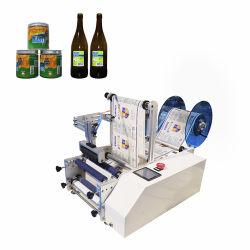 Manuelle schnelle halb automatische anhaftende Wein-runde Flaschen-Etikettierer-Verpackungs-Etikettiermaschine (PST-C12)