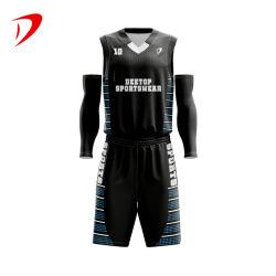 맞춤 디자인 프린트 저지 농구 유니폼 세트 중국 공장 전문가용 저가형 MOQ 스포츠웨어 농구 유니폼메쉬 가역적 유스 농구 저지