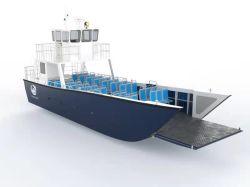 알루미늄 13m 오픈 해상 운송 바지선 착륙 판매