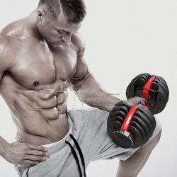 Em Stock Dropshipping Home equipamento de ginásio 52,5 lb/ 24kg 90lb/40kg halteres Fitness Equipment 552 1090 Conjunto Haltere ajustável