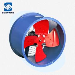 مروحة عادم المروحة منخفضة الضوضاء ذات الدفق الصناعي الكهربائي عادم المروحة