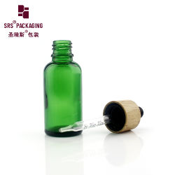 Grüne Farben-Serien-Luxuxglastropfenzähler-Flasche 10ml 15ml 30ml 50ml 100ml