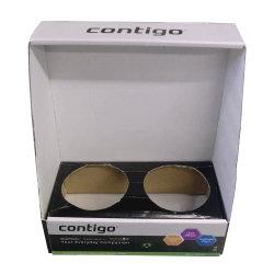 ミルクコーヒーの昇進のカスタマイズされたボール紙のペーパー表示箱