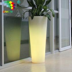 وعاء زهرة من البلاستيك كبير LED
