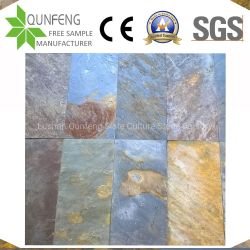 中国の分割された表面錆ついた石造りのフロアーリングかスレートのタイルを舗装すること