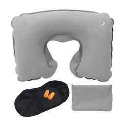 regalo de promoción 4 en 1 Kits de viaje aire Kit de viaje para dormir dormir avión Set de viaje