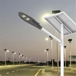 preço de fábrica Hepu Novo Design à prova de PI65 Piscina 30W 60W 80W 100W Sensor exterior LED integrado Solar Luz de Rua