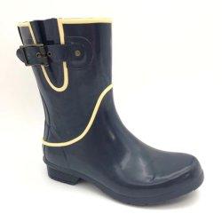 Оптовая мода женщины по индивидуальному заказу Rain MID-Calf Rubber Rain Vulcanizate Обувь с наугольника