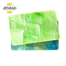 Jinbao mármol de color de lámina de acrílico letreros de cristal el patrón de fabricación de paneles de PMMA en el sur de Mumbai rosa claro proceso de fabricación