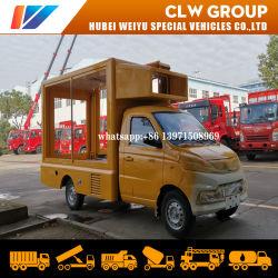 China Venta caliente al aire libre a la exportación de camiones de radiodifusión con 4 lados el desplazamiento de pantalla de carteles vallas de publicidad de carretilla
