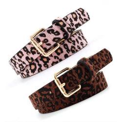 Новый Корейский Леди мода Leopard Print заметили искусственная кожа декоративные ленты