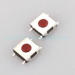 مصدر إمداد المصنع 6*6 مفتاح لمس للتصميم صغير الحجم على شكل L من نوع SMT اضغط على مفتاح تبديل تبديل Micro