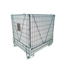 Galvanizados industriais colapsáveis empilháveis dobrável de Aço de metal de malha de recipientes de armazenamento para preformas PET para bagagem