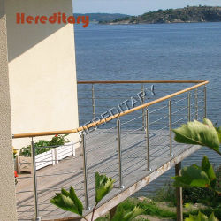 Balcony를 위한 옥외 Design Stainless Steel Rob Bar Railing