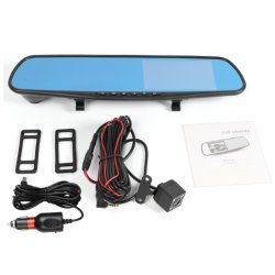"Wholsale 4.3 "" LCD FHD 1080P Dual Lens Car Camera Front와 Rear DVR Video Recorder Mirror Rear View Camera"