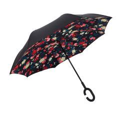 Reversable Umbrella - Reversão de Dupla Camada Umbrella - Mãos livres pega em forma de C - guarda-chuva invertida do avesso - Ótimo para permanecer seca quando Geeting dentro e fora do C