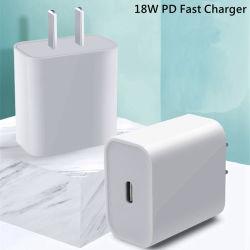 iPhone 11プロXr X Xs最大8プラスのHuawei 5V 9V充満EUのための18W Pd USBのタイプCの速い充電器のアダプターは私達イギリスのAuのプラグ旅行Pdの充電器ポート絶食する