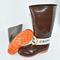 Mens elevados de segurança do joelho com isolamento de PVC Anti Slip botas para cozinha