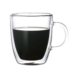 Tasse à café en verre double paroi cadeau promotionnel tasse de café tasse à café en verre Pyrex