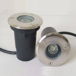 1W High Power impermeable al aire libre paisaje luces empotradas LED de tierra de protección IP67 de la luz