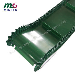 Venda a quente de fábrica industrial verde do defletor da Saia Correia Transportadora de PVC Custom