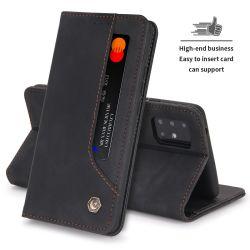 Commerce de gros Stand classique Wallet couvercle flip magnétique cuir synthétique cas Téléphone Mobile pour Samsung Galaxy A51 5g