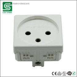 3 Pin-italienische Wand-Netzstecker-Kontaktbuchse-Italien-elektrischer Anschluss