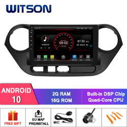 Witson Android 10 차량용 DVD GPS 네비게이션 현대용 시스템 I10(RHD) 2014-2016
