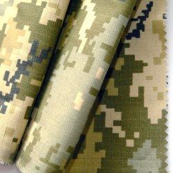 Nylon 50%50%Algodón ejército militar de camuflaje de tejido de impresión