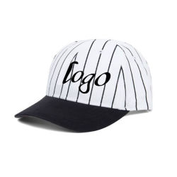 カスタム刺繍の縞の野球帽
