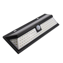 신제품 IP65 ABS + PC 콜드 화이트 90PCS 7와트 실외 태양열 에너지가 있는 벽 조명 진열대 LED