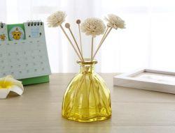 200ml amarelo vazio Flor De Luxo Difusor Reed garrafa de vidro decorativo