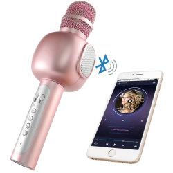 De handbediende Microfoon van de Karaoke van de Spreker van de Versterker van de Microfoon Bluetooth Draadloze