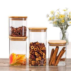 Боросиликатного стекла кувшин для хранения, кухня контейнер стеклянной посуды